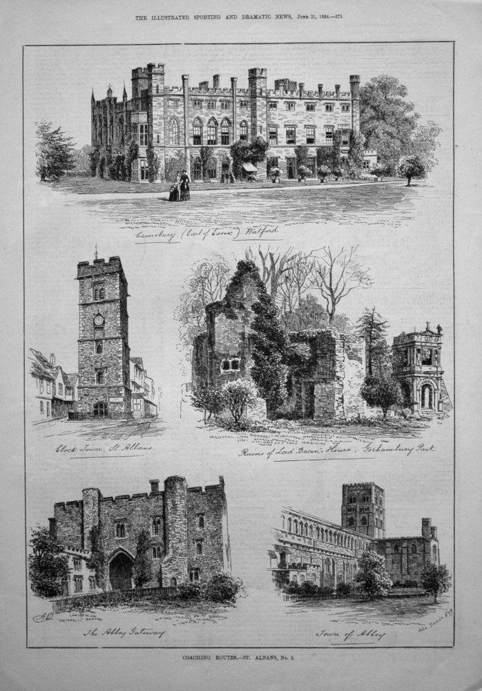 Coaching Routes. -St. Albans, No. 2. 1884