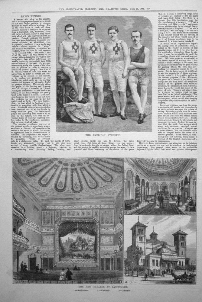 The New Theatre at Eastbourne. 1884