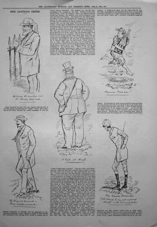 Our Captious Critic, June 21st 1884.