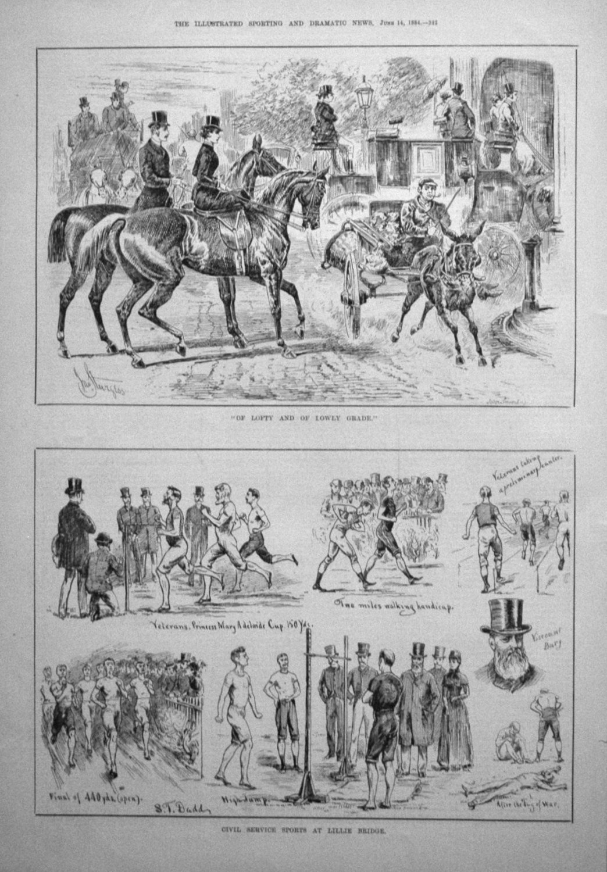 Cvil Service Sports at Lillie Bridge. 1884