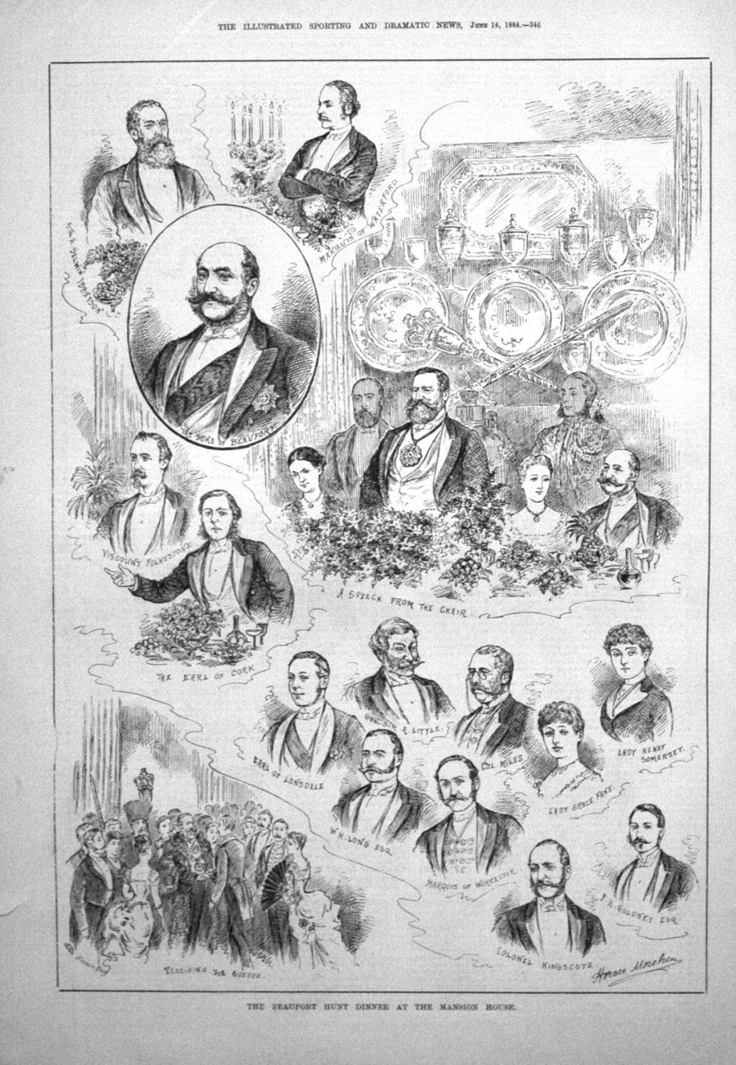 The Beaufort Hunt Dinner at the Mansion House. 1884