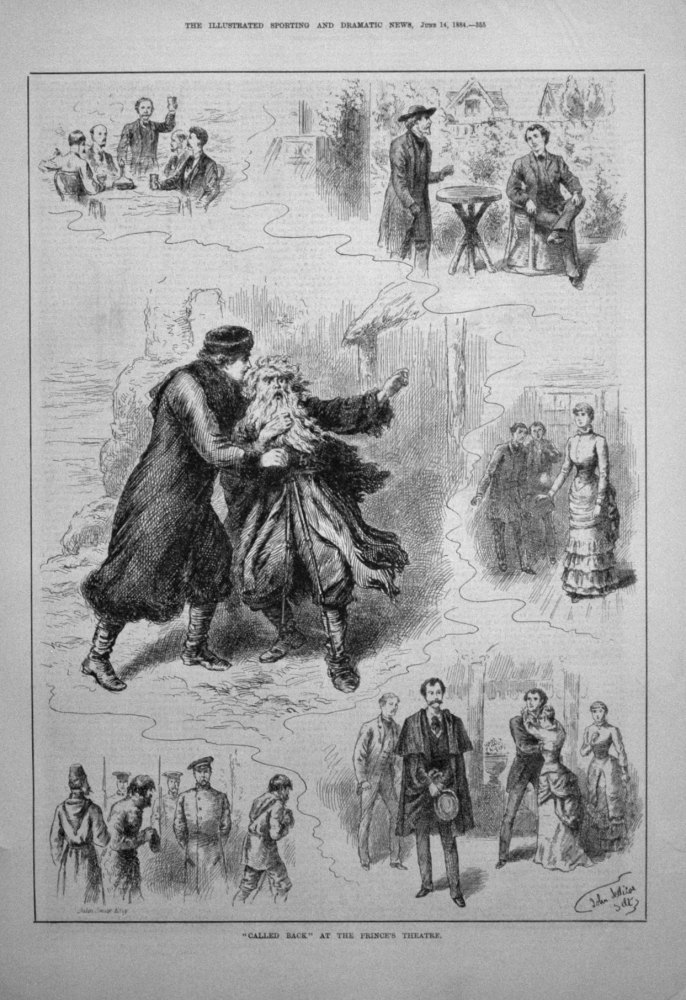"""Called Back"" at the Prince's Theatre. 1884"