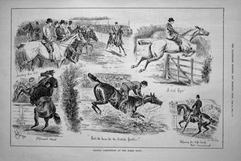 Leaping Competition at the Horse Show. 1884