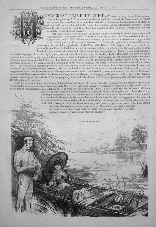 Montserrat Lime-Fruit Juice. 1884