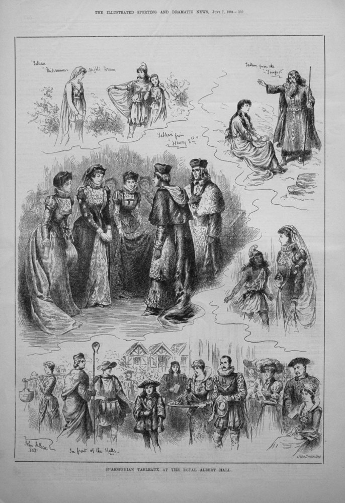 Shaksperian Tableaux at the Royal Albert Hall. 1884