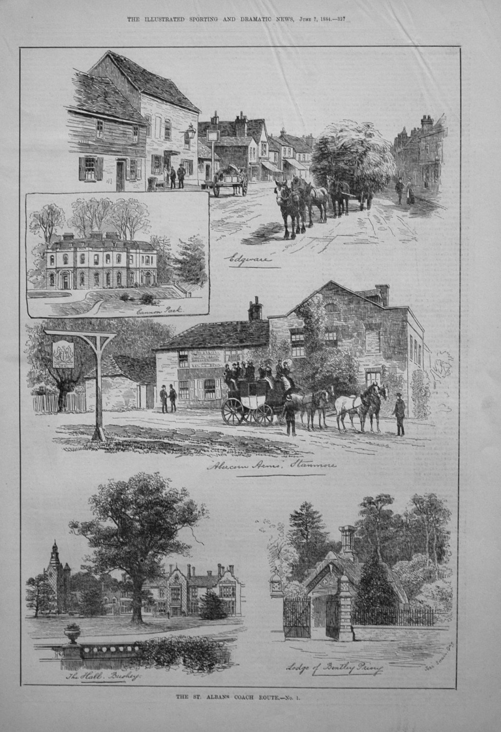 The St. Albans Coach Route. - No. 1. 1884