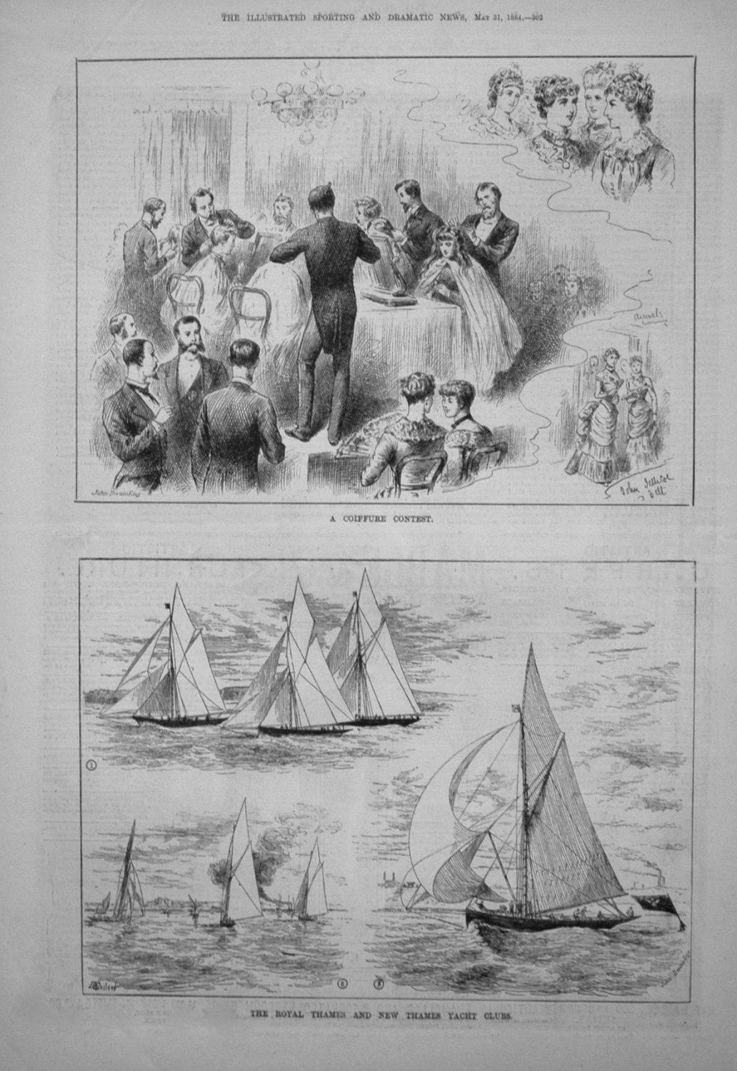The Royal Thames and New Thames Yacht Clubs. 1884