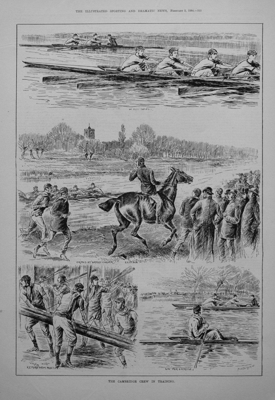The Cambridge Crew in Training. 1884
