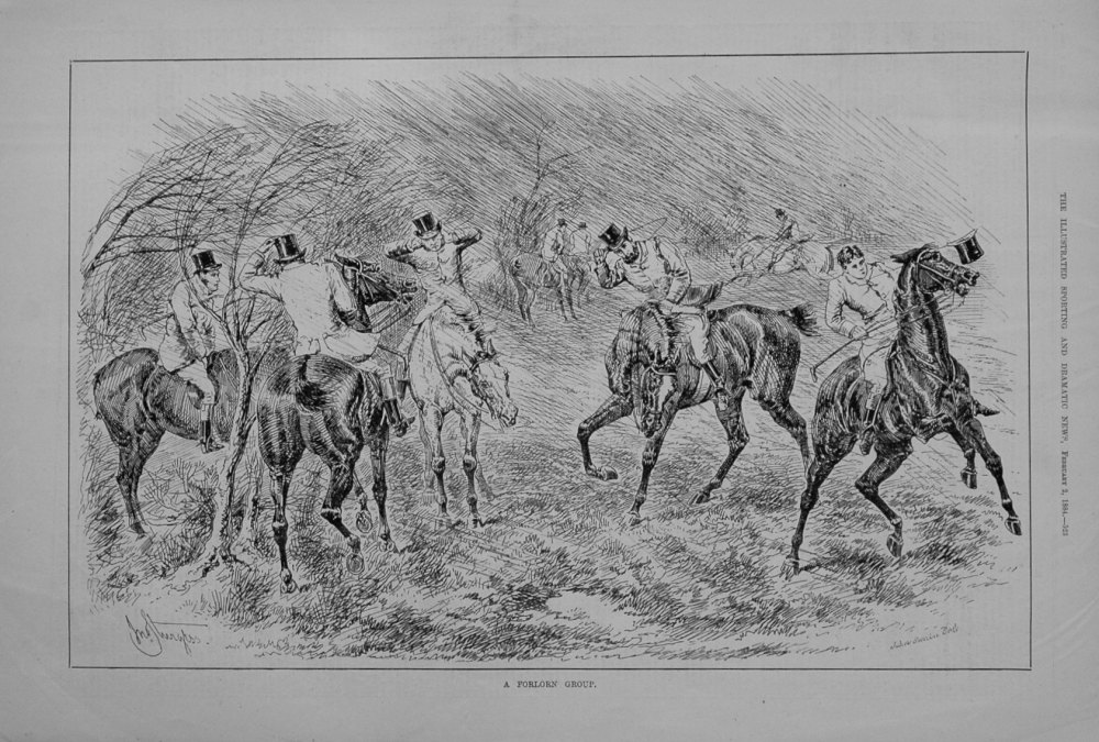 A Forlorn Group. 1884