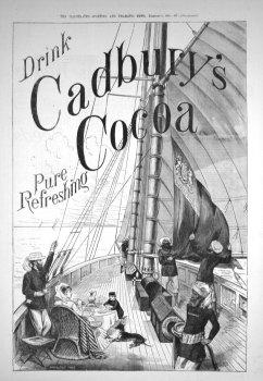 Cadbury's Cocoa. 1884