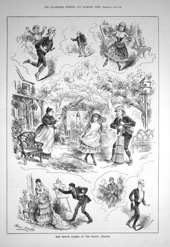 Miss Minnie Palmer at the Strand Theatre. 1884