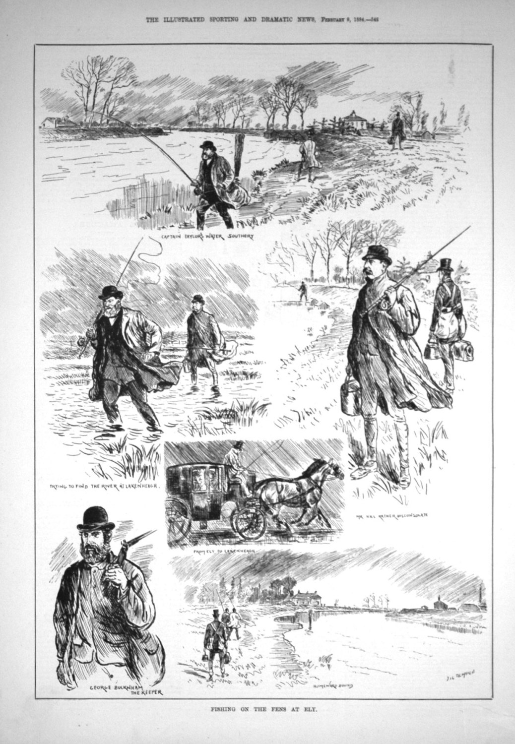 Fishing on the Fens at Ely. 1884