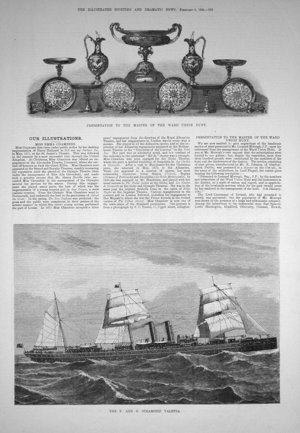 The P. and O. Steamship Valetta.