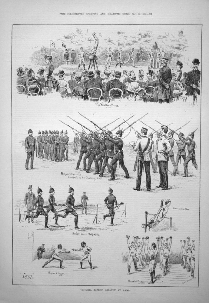 Victoria Rifles' Assault at Arms. 1884