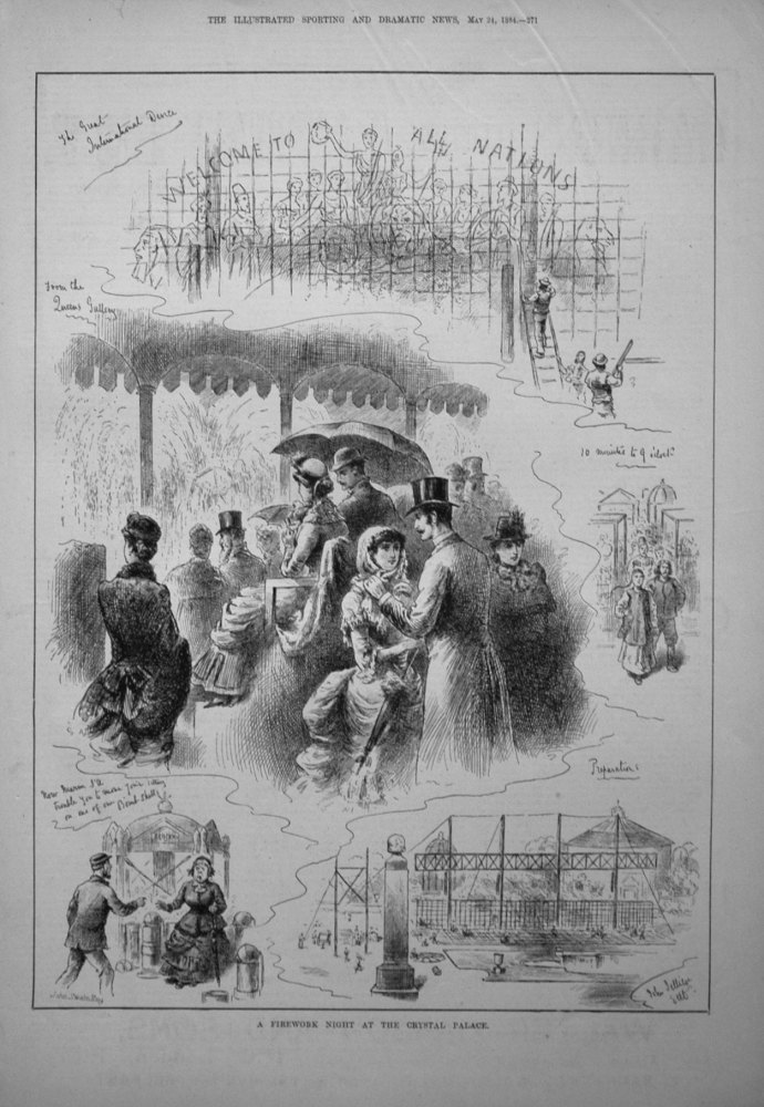 A Firework Night at the Crystal Palace. 1884
