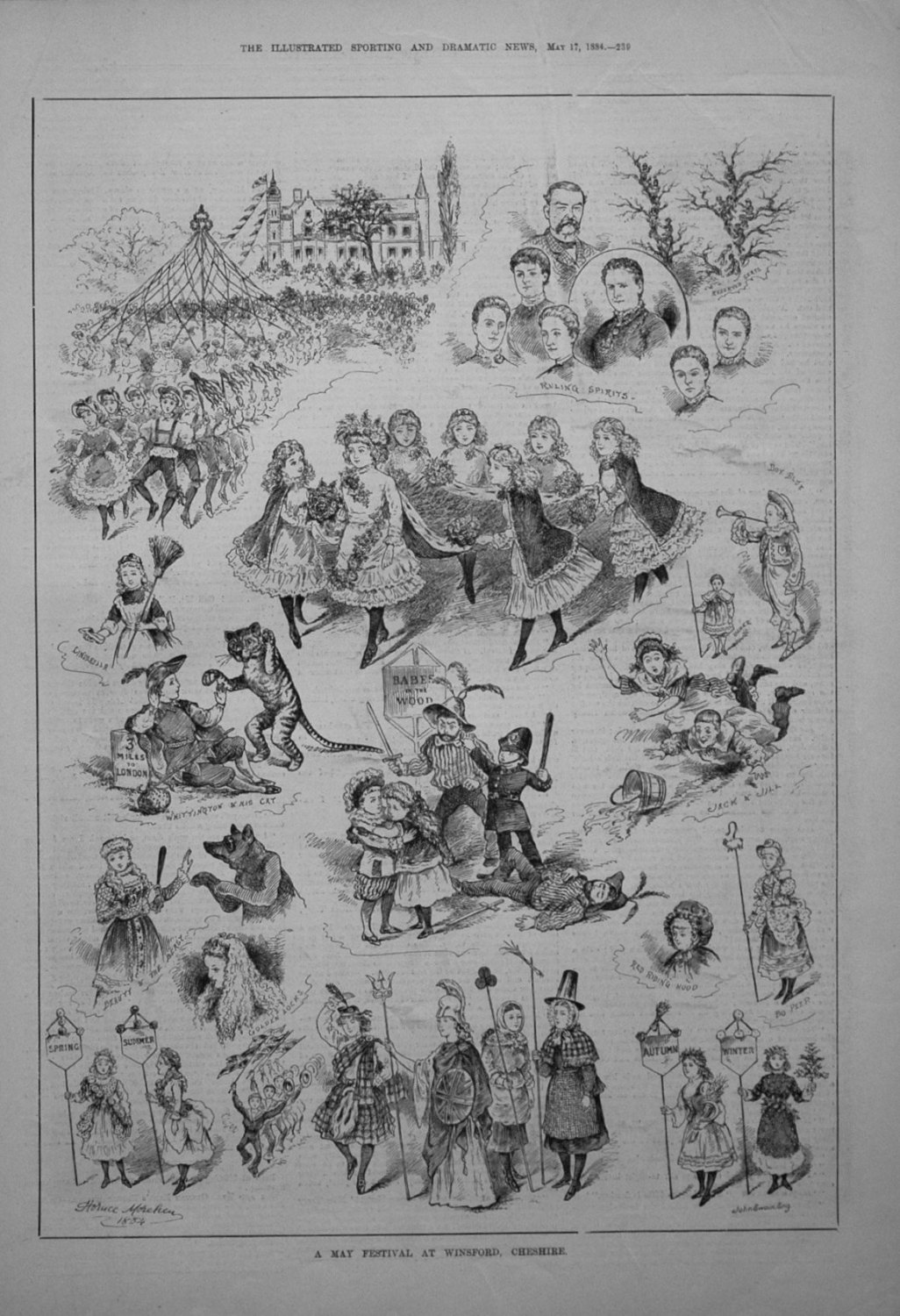 A May Festival at Winford, Cheshire. 1884