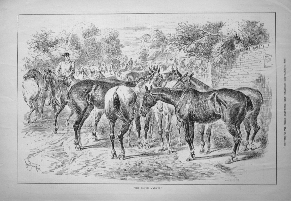 """The Slave Market."" 1884"