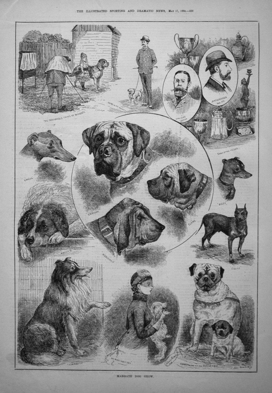 Margate Dog Show. 1884
