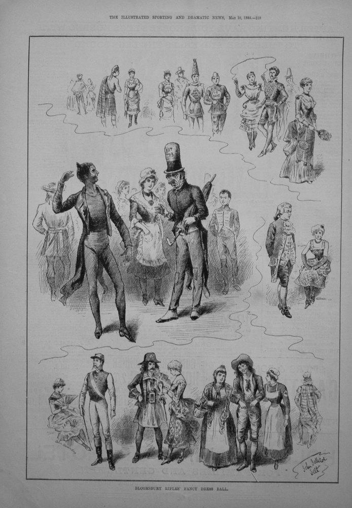 Bloomsbury Rifles Fancy Dress Ball. 1884