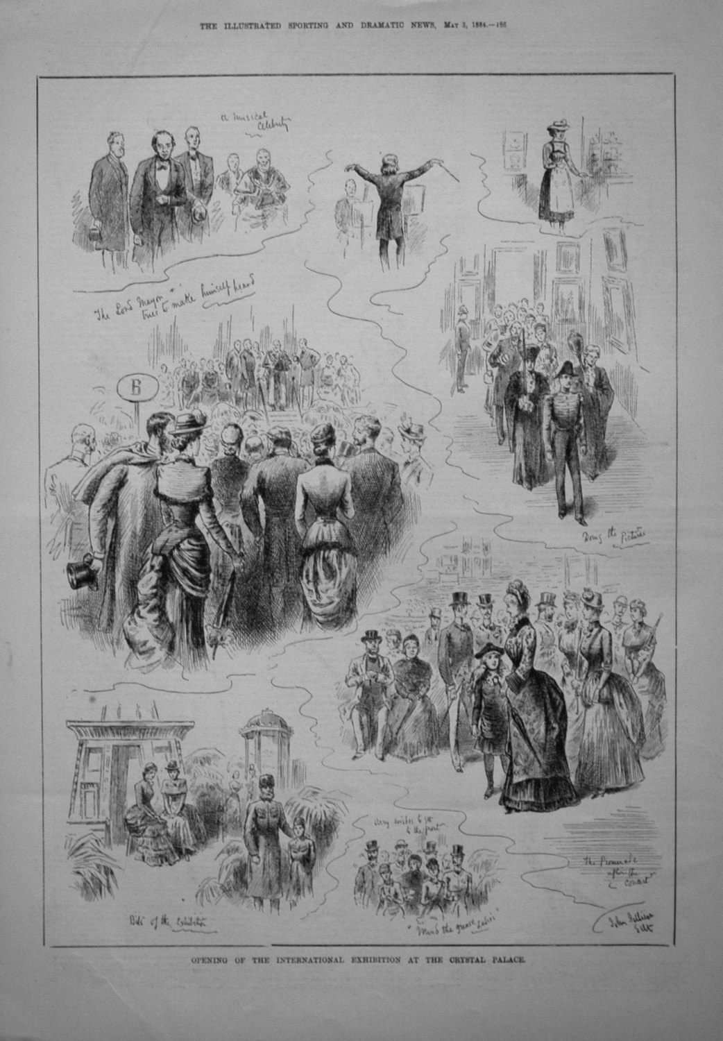 Opening of the International Exhibition at the Crystal Palace. 1884
