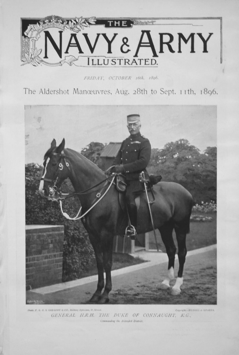 Navy & Army Illustrated, October 16th 1896. (Special No.)