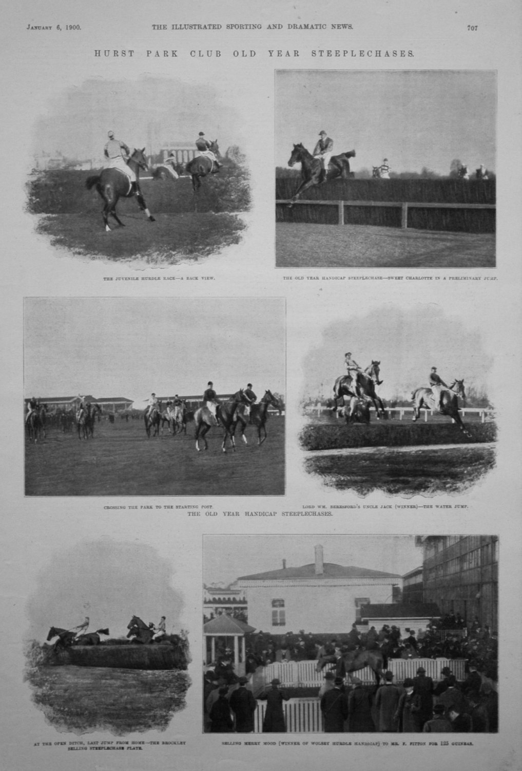 Hurst Park Club Old Year Steeplechases. 1900