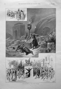 """""""For The Crown"""" at the Lyceum Theatre. 1896"""
