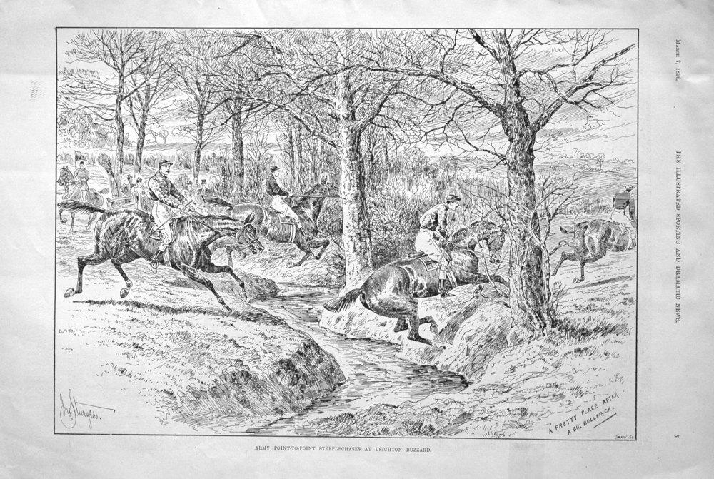 Army Point-to-Point Steeplechases at Leighton Buzzard. 1896
