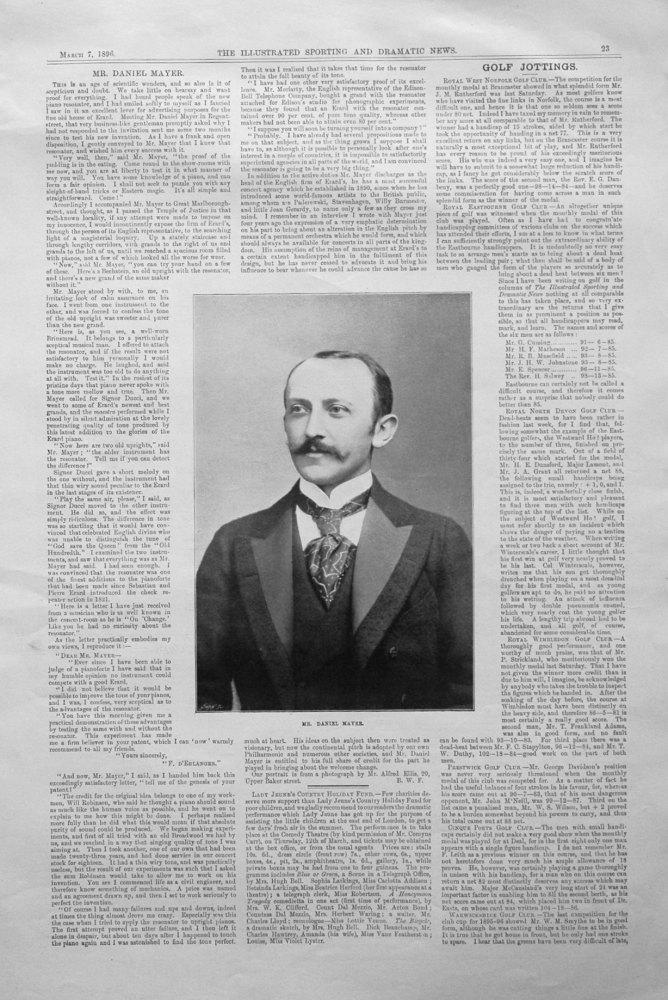 Mr. Daniel Mayer. 1896