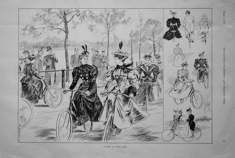 Cycling in Hyde Park. 1896