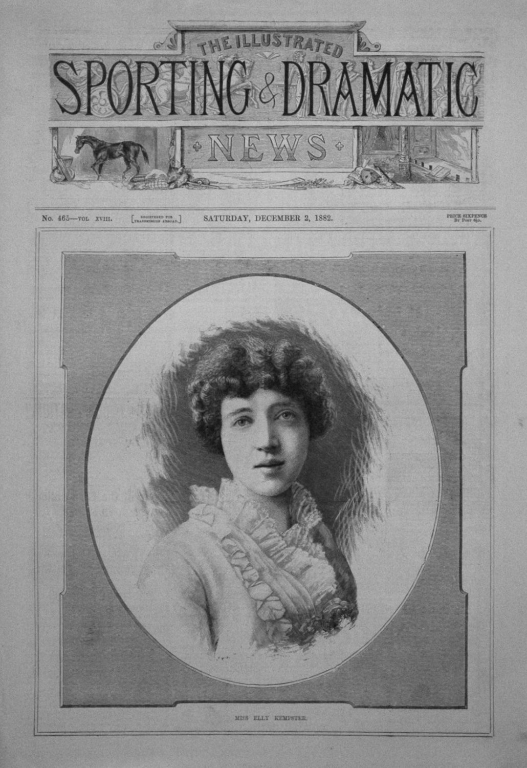 Miss Elly Kempster. 1882