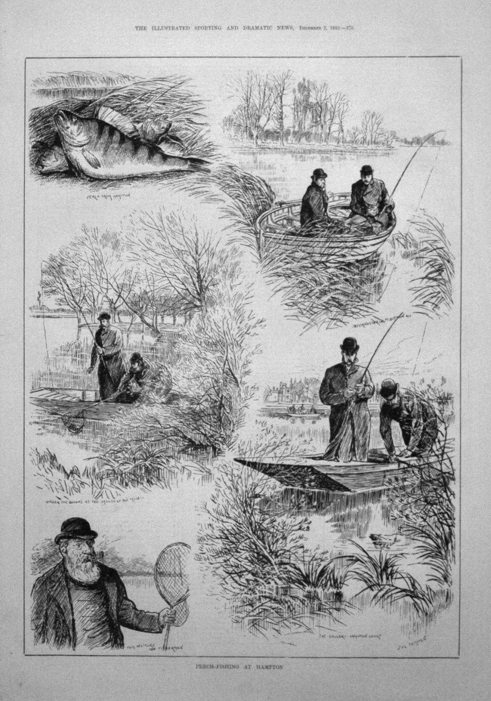 Perch-Fishing at Hampton. 1882