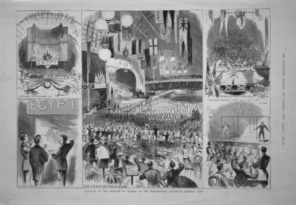 Banquet to the Brigade of Guards at the Westminster Aquarium - General View