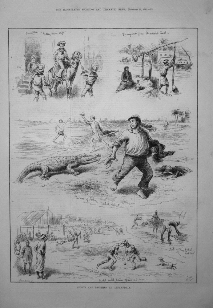 Sports and Pastimes at Alexandria. 1882