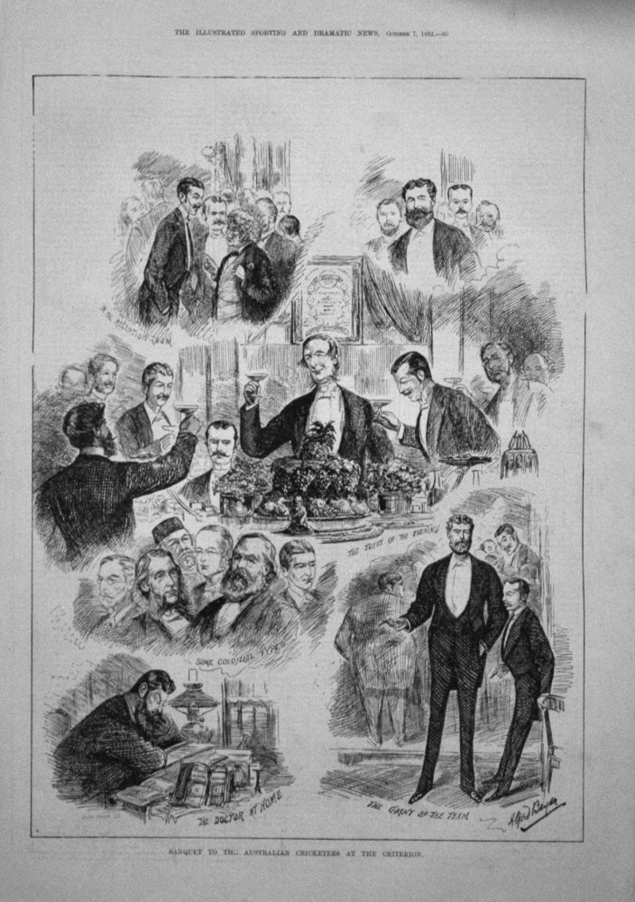 Banquet to the Australian Cricketers at the Criterion. 1882
