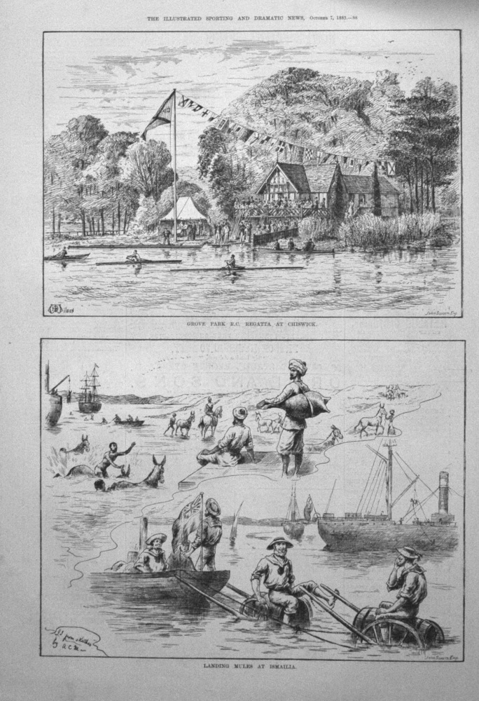 Grove Park R.C. Regatta at Chiswick. 1882