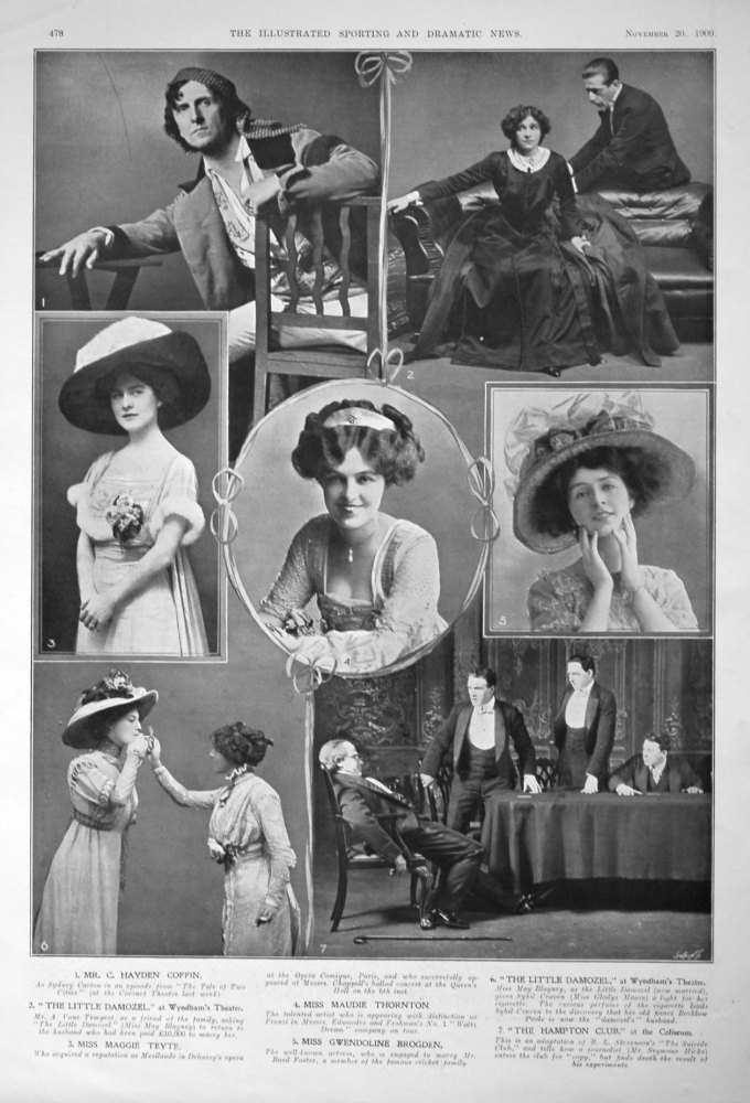 Actors & Actresses from the Stage. November 1909