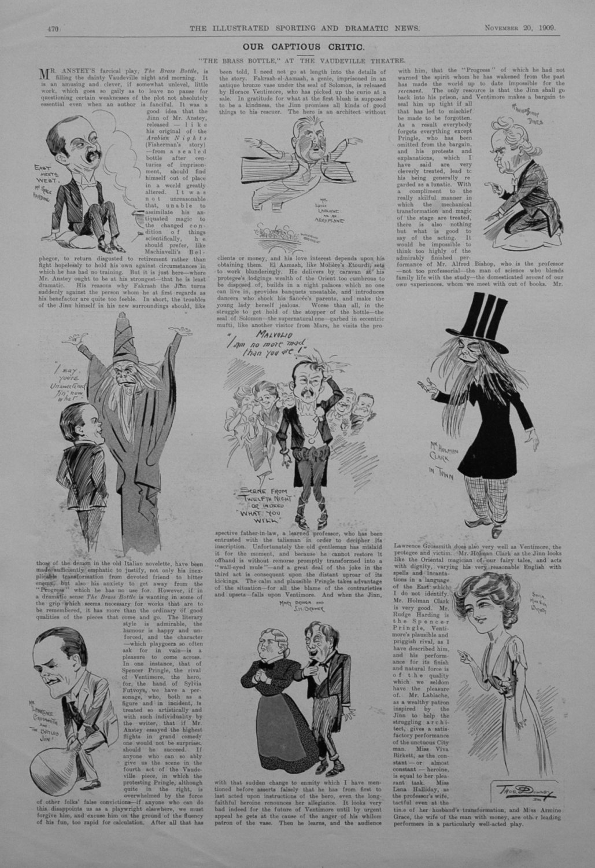 Our Captious Critic, November 20th 1909.