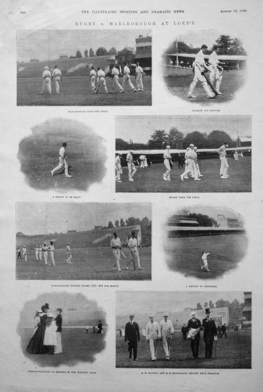 Rugby v. Marlborough at Lord's. 1899 (Cricket)