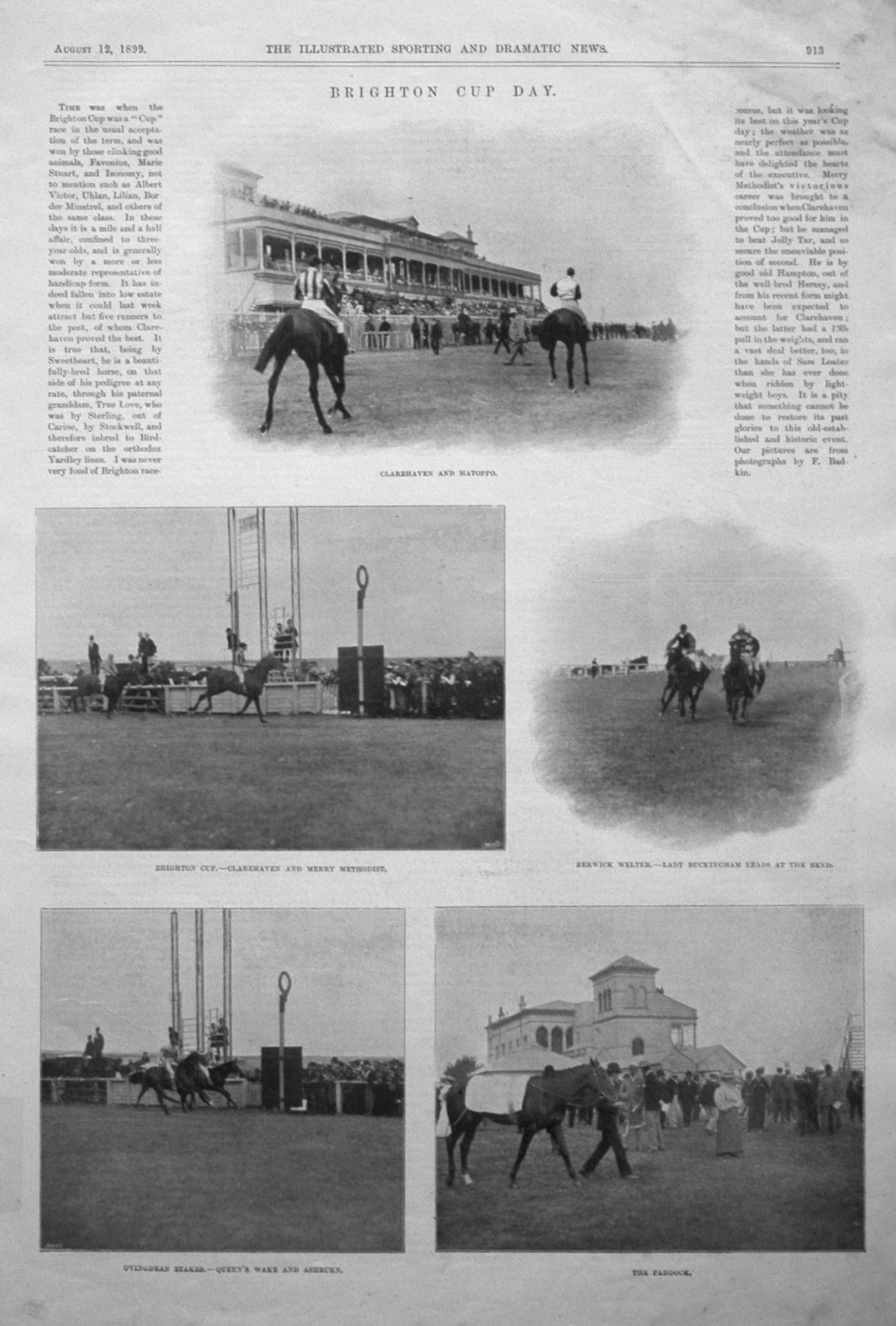 Brighton Cup Day. 1899.