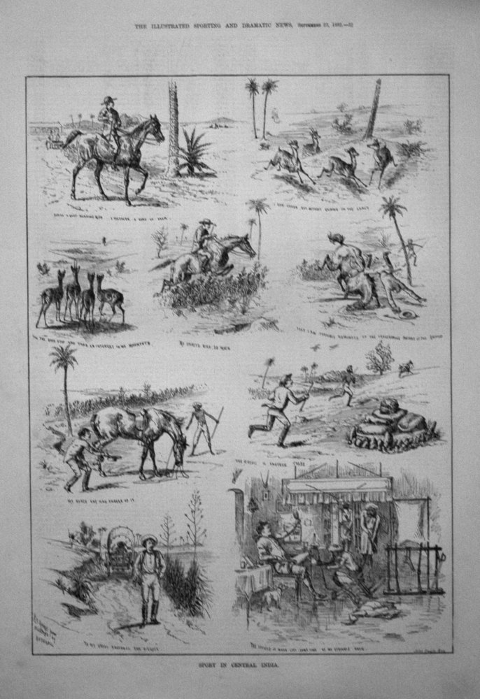 Sport in Central India. 1882