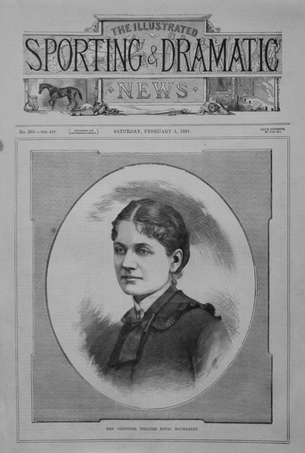 Mrs. Canninge, Theatre Royal Newmarket. 1881