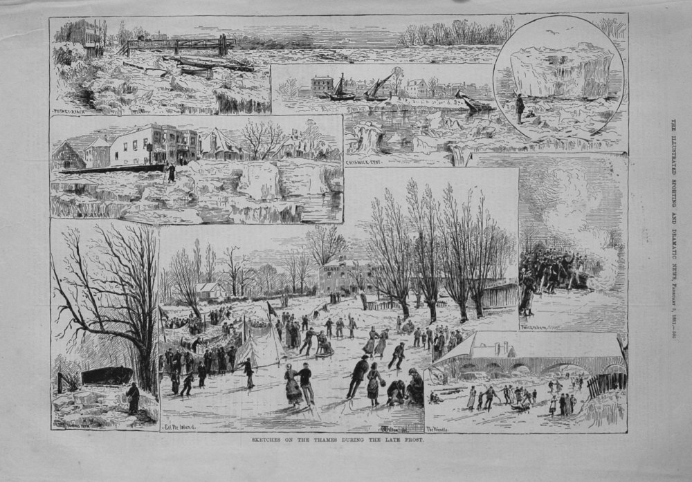 Sketches on the Thames during the Late Frost. 1881
