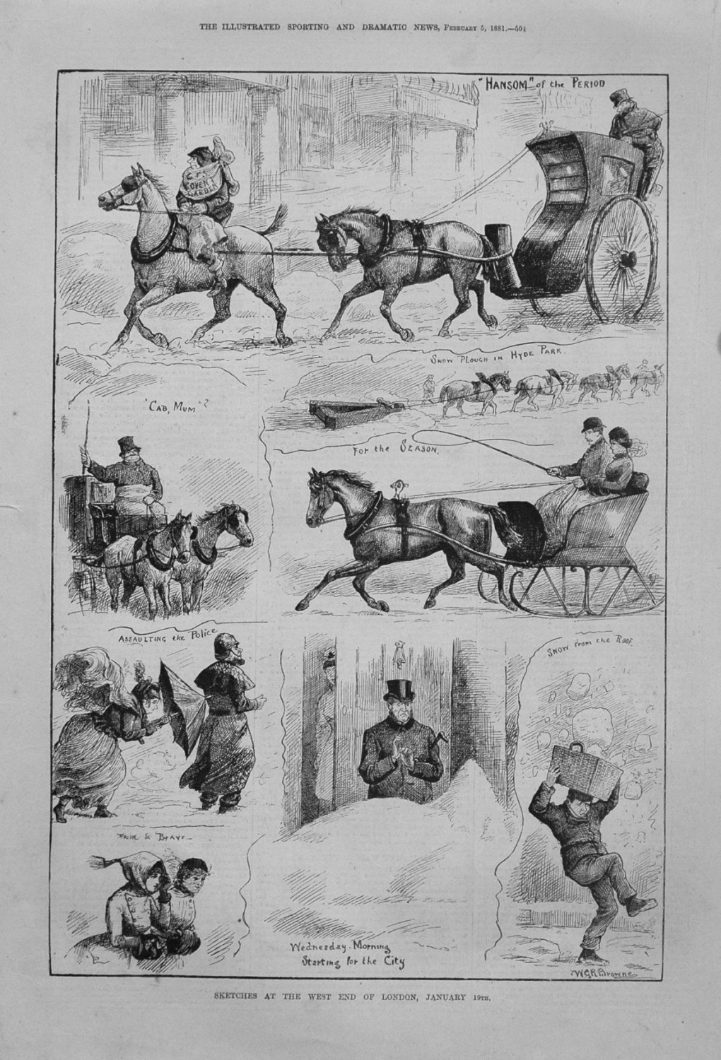 Sketches at the West End of London, January 19th. 1881