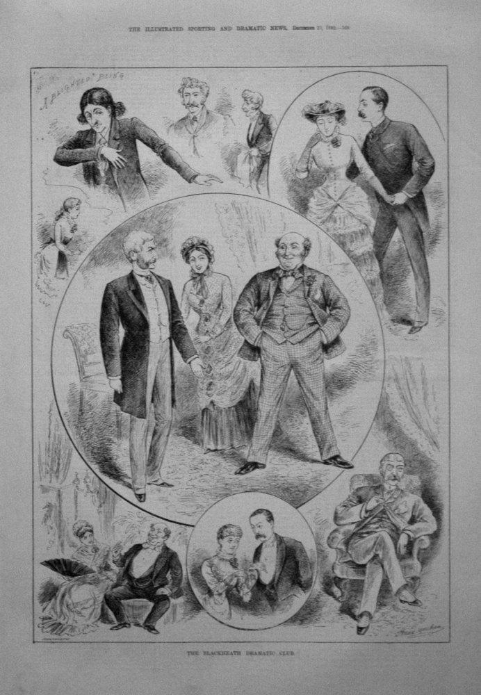 The Blackheath Dramatic Club. 1882