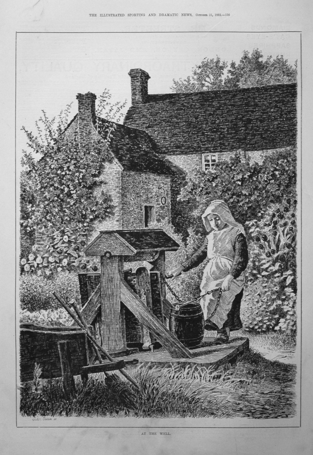 At the Well. 1882