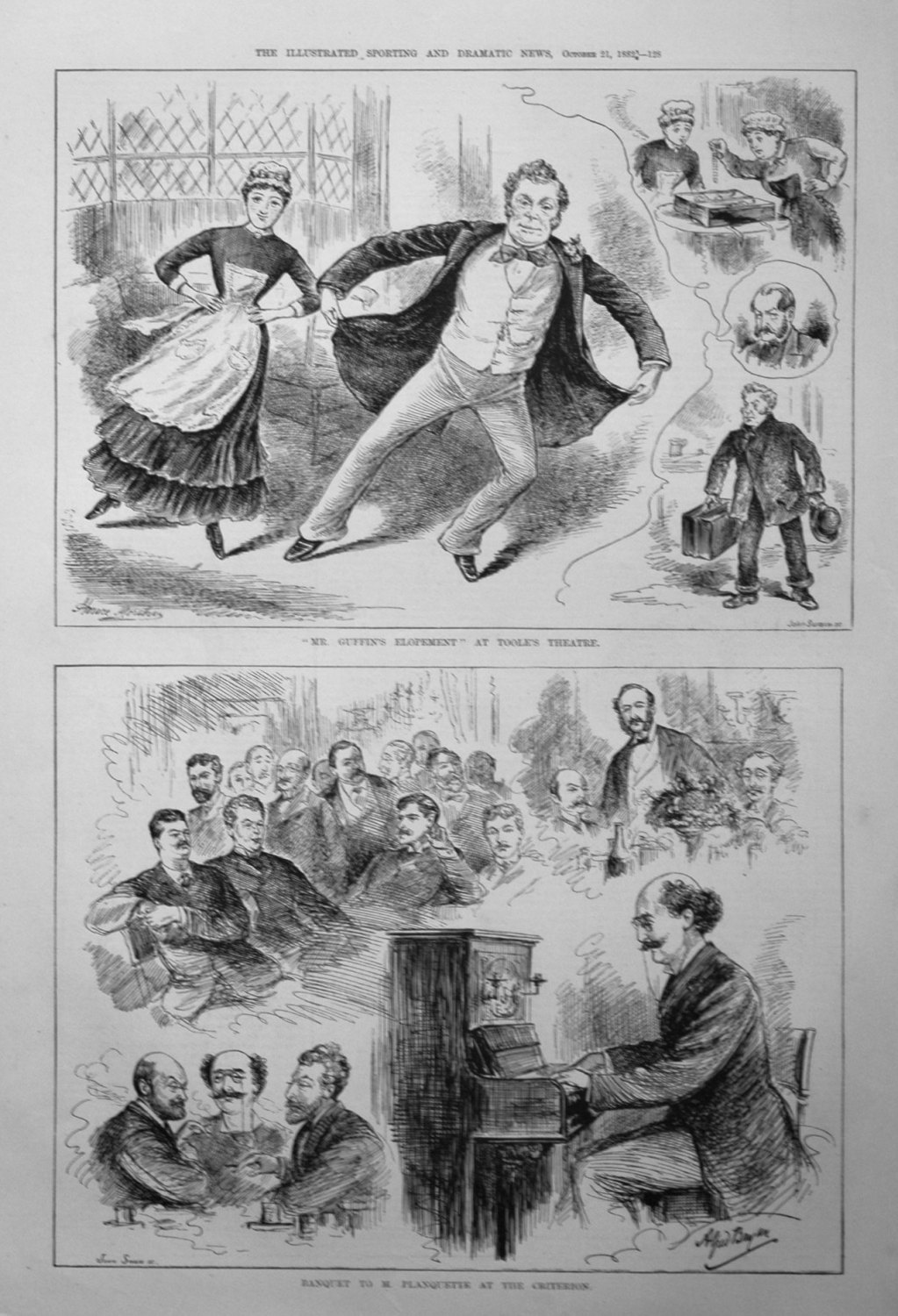 Banquet to M. Planquette at the Criterion. 1882