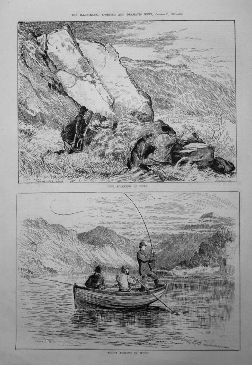 Trout Fishing in Mull. 1882.