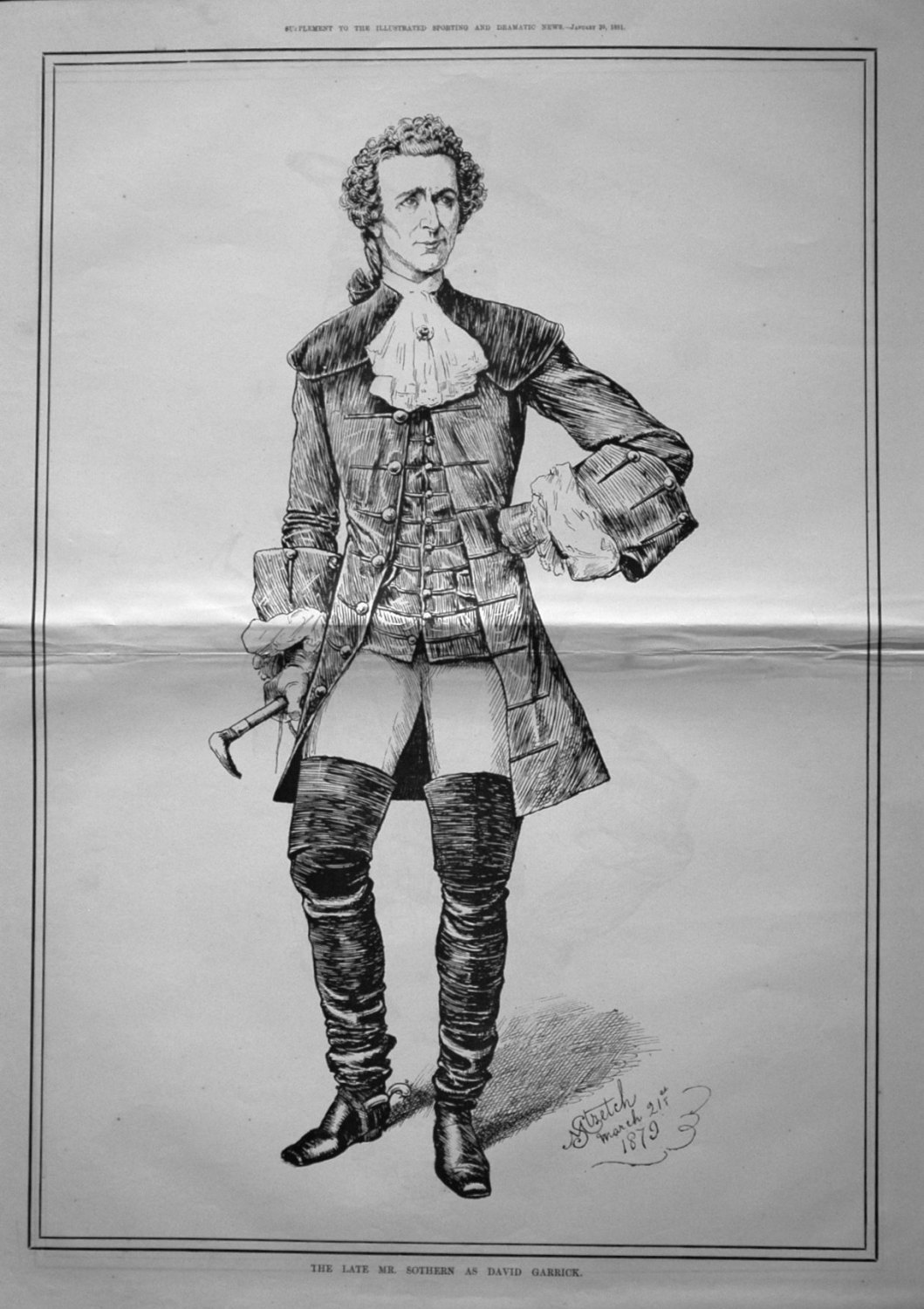The Late Mr. Sothern as David Garrick. 1881