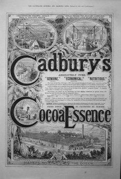 Cadbury's Cocoa Essence. 1881.